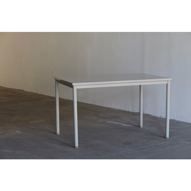 Metal 1935 Le Corbusier Steel & Wood Desk/Table For Sale - Image 7 of 7