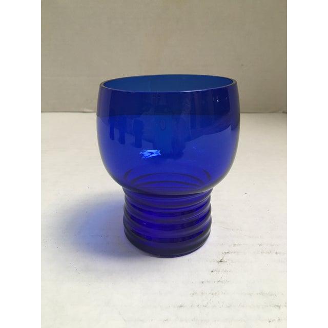 Blue Cobalt Mid-Century Cocktail Glasses- S/4 - Image 6 of 7