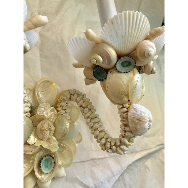 Christa's South Seashells Two-Light Seashell Sconces - a Pair For Sale - Image 4 of 6