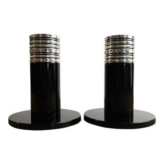 Vera Wang Wedgewood Candle Sticks - a Pair For Sale