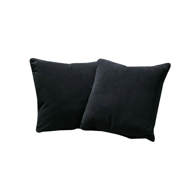 Sarreid Ltd. Black Fur Pillows - a Pair - Image 1 of 3