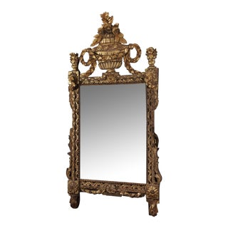 Louis XV Carved Gilt Wood Mirror For Sale