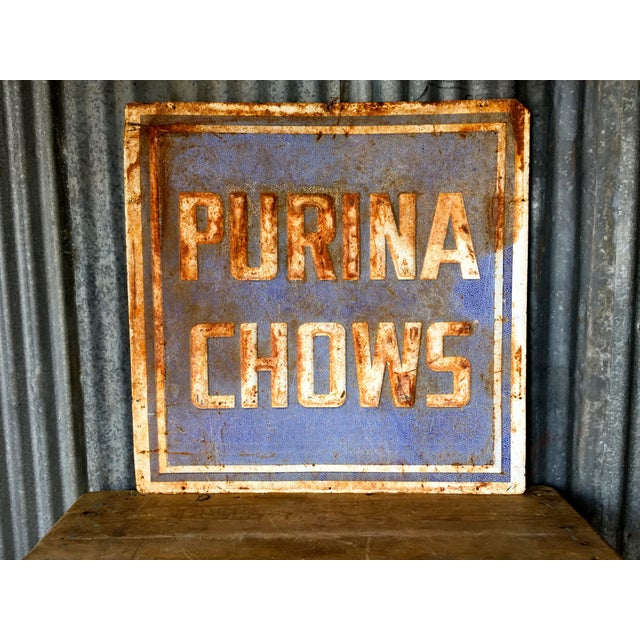 Vintage Purina Chow Sign - Image 2 of 8