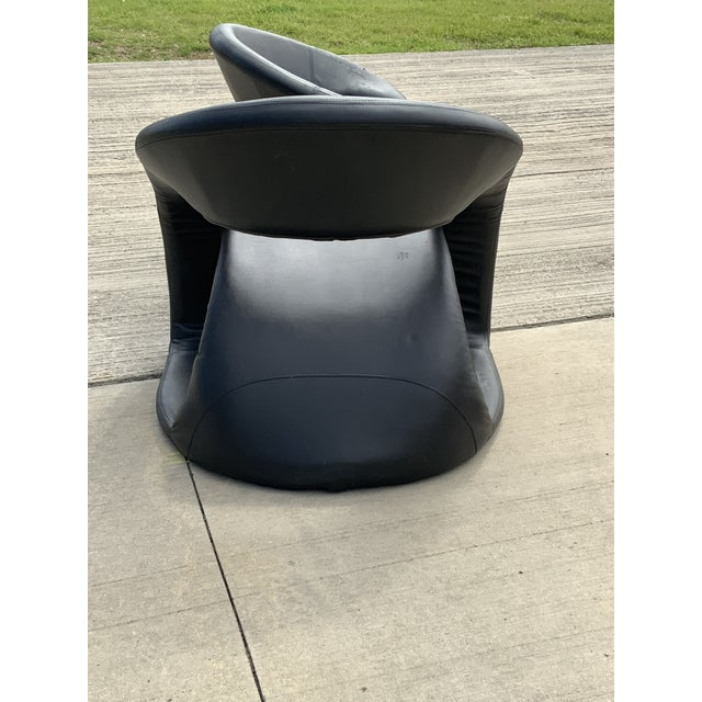 Louis Durot 1990s Vintage Sculptural Sinuous Cantilever Chairs - A Pair For Sale - Image 4 of 10