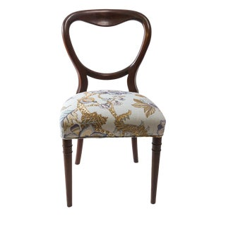 Chaise Style Louis Philippe Relookée Mahogany Accent Chair