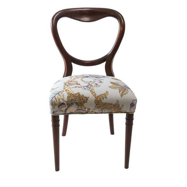 Chaise Style Louis Philippe Relooke Mahogany Accent Chair