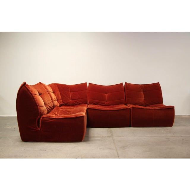 1970s French Modular Mohair Sofa For Sale - Image 13 of 13