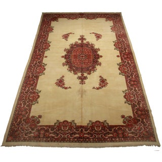 Hand-Knotted Wool Indian Rug - 10′7″ × 21′8″ Preview