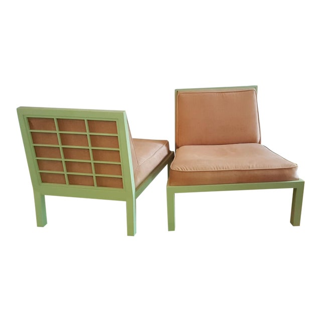 Michael Taylor for Baker Slipper Chairs - A Pair - Image 1 of 6