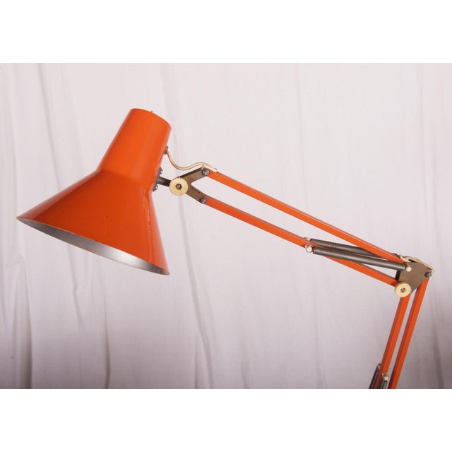 Luxo Orange Table Lamp by Luxo, 1970s For Sale - Image 4 of 6