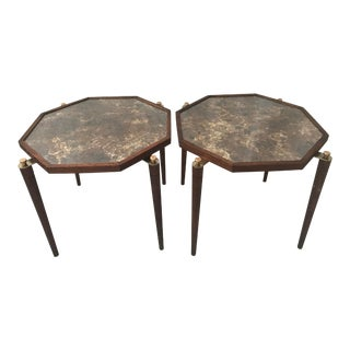 Mid Century Octagonal Stacking Side Tables-A Pair For Sale