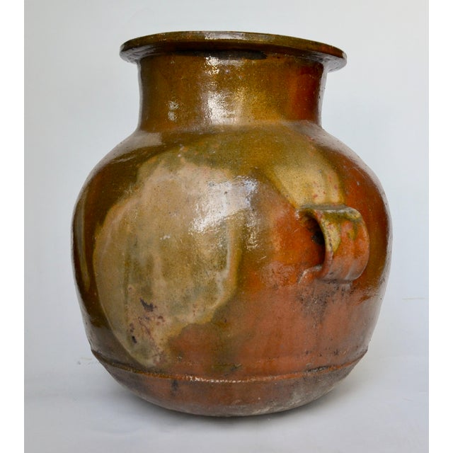 Primitive Antique Guatemalan Large Terracotta Water Container For Sale - Image 3 of 6