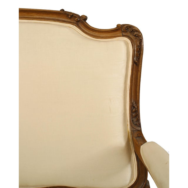 French French Louis XV Walnut Settee For Sale - Image 3 of 7