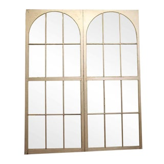 Arched Multi Pane White Arched Windows For Sale
