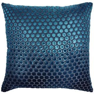 Cobalt Black Dots Velvet Pillow
