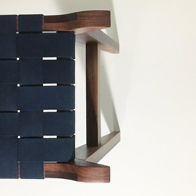 'Arvid the Long' Modern Wood & Webbing Bench For Sale - Image 4 of 5