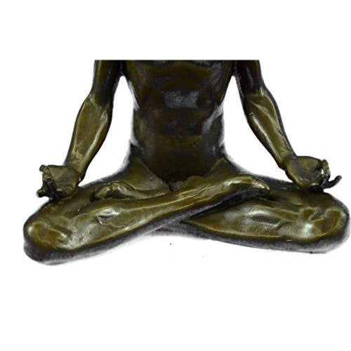 Yoga Sport Edition Bronze Sculpture on Marble Base Figurine For Sale - Image 9 of 9