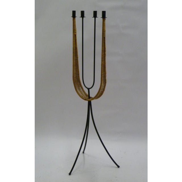Mid Century Modern Arthur Umanoff Standing Candelabra for Raymor For Sale In Miami - Image 6 of 7