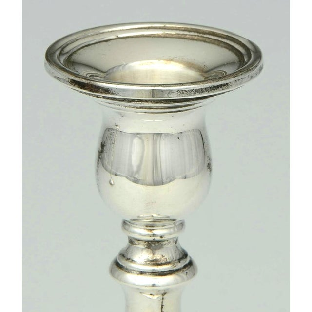 Traditional 1930s International Silver Prelude-Plain Sterling Candlestick - a Pair For Sale - Image 3 of 7