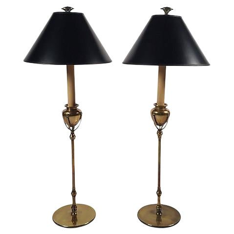 Chapman Brass Table Lamps - A Pair - Image 1 of 6