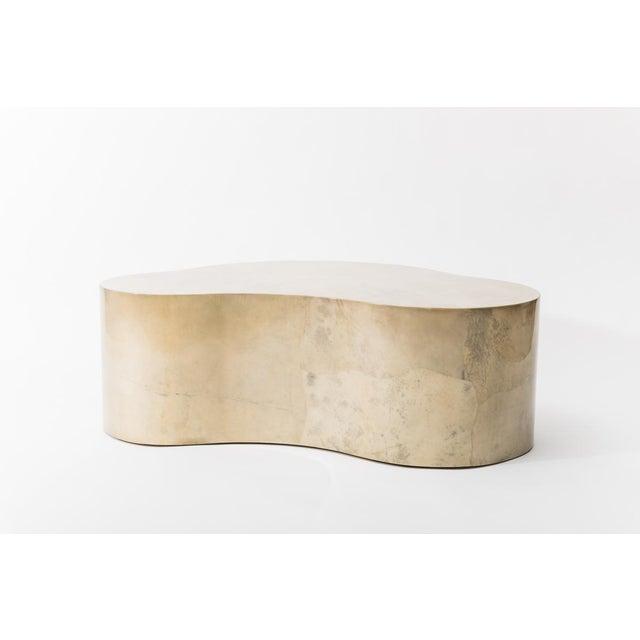 Karl Springer LTD Lacquered Goatskin Free Form Low Table, Usa For Sale - Image 4 of 7