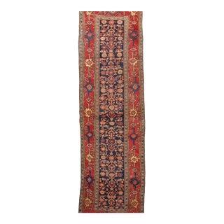 """Antique Authentic Persian Bidjar Runner Rug - 3' 8"""" X 12' 2"""""""