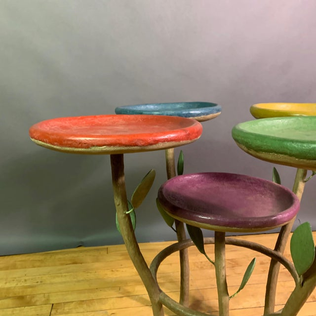 French Artist Designed Polychrome Resin Plant Stand For Sale In New York - Image 6 of 11