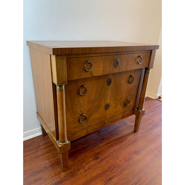 French Vintage Baker French Empire Neoclassical Style Chest of Drawers For Sale - Image 3 of 13