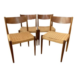 Mid 20th Century Danish Modern Teak Dining Chairs - Set of 4 For Sale