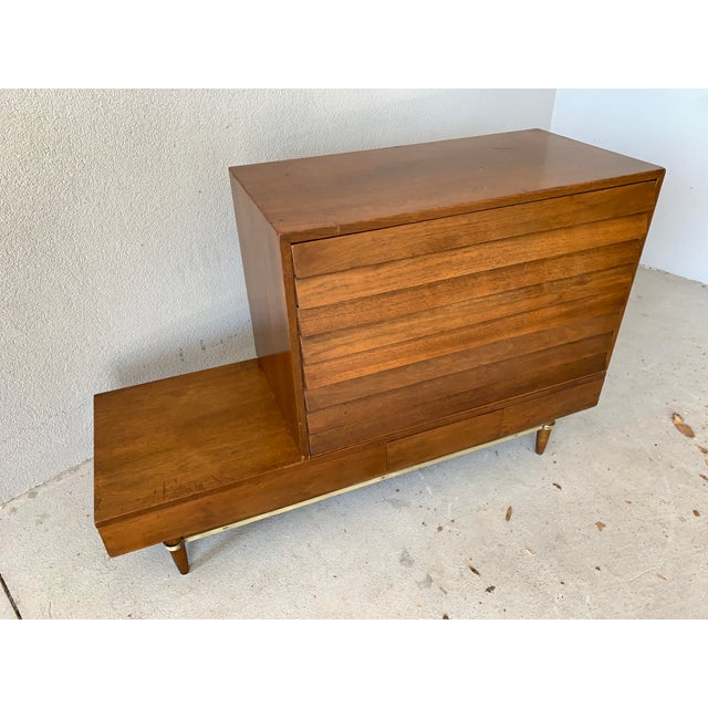 Mid-Century Modern Vintage Mid-Century American of Martinsville Dania Modular Bench & Chest of Drawers For Sale - Image 3 of 12