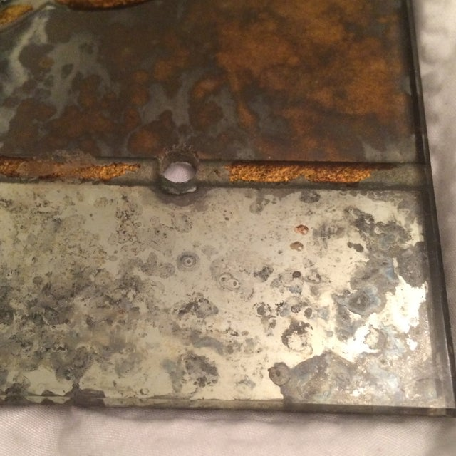 Antique Mirror Sconce Panels - Pair - Image 3 of 8