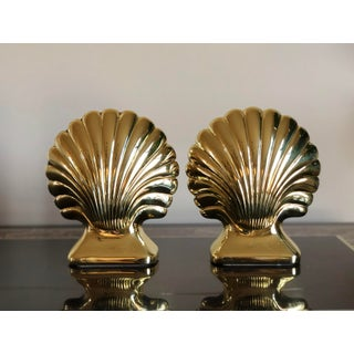 Vintage Baldwin Brass Clam Seashell Bookends - a Pair Preview