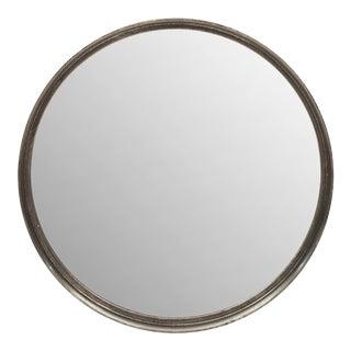 Samar Round Mirror, Vintage Silver For Sale