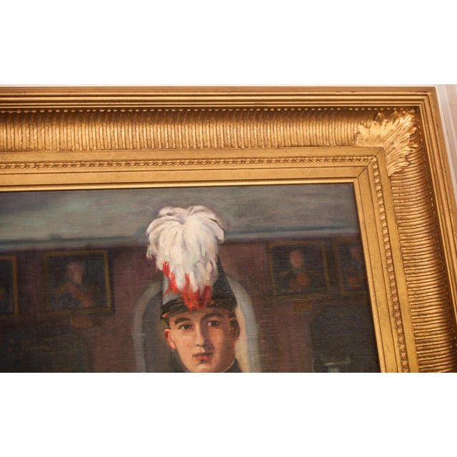 """Early 20th Century Antique C Tertiaux """"Boy From Academy"""
