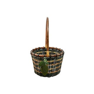 Green Woven Rattan Basket Preview