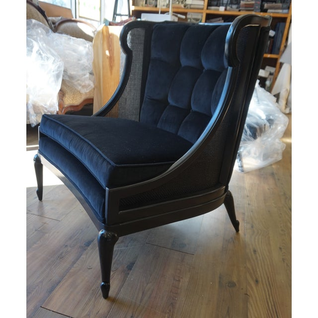 1960s Vintage Ponti Inspired Ebonized High Style Mastercraft Club Chair For Sale - Image 11 of 13