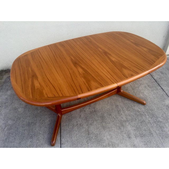 Mid-Century Expandable Teak Dining Table - Image 4 of 11