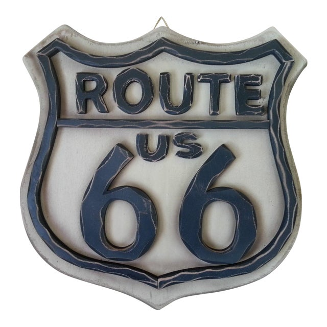 Route 66 Wood Wall Sign - Image 1 of 7