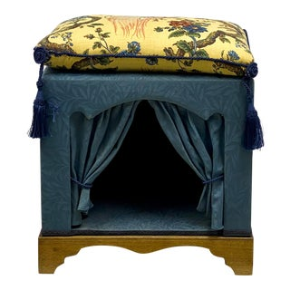 Dog / Cat House or Bench Upholstered in French Style Toile For Sale
