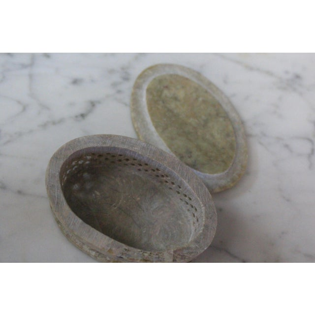 1960s Vintage Soapstone Indian Box For Sale In New York - Image 6 of 8