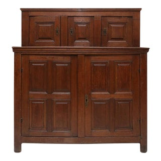18th Century Oak Tridarn For Sale