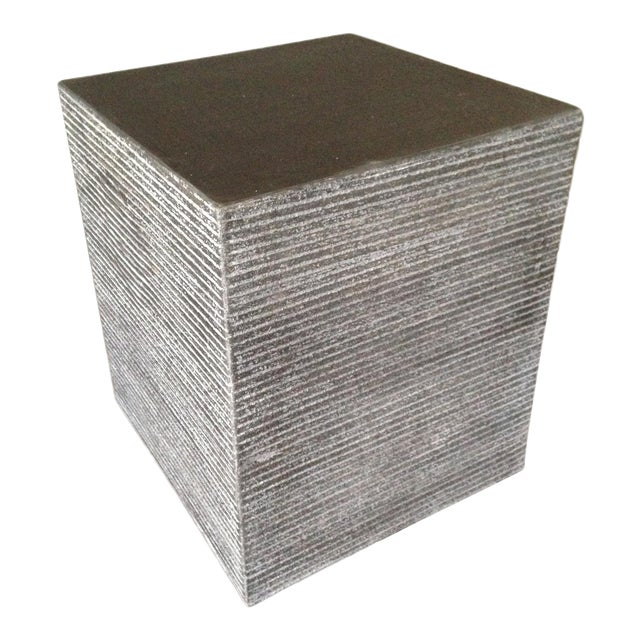 Cerused Cube Accent Table For Sale