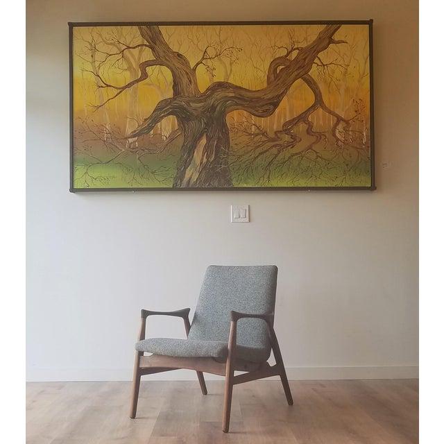 1950s Arne Hovmand-Olsen Lounge Chair (Model 240) for Mogens Kold Møbelfabrik - Newly Upholstered For Sale - Image 12 of 13
