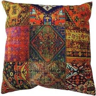 1990s Vintage Decorative Persian Accent Pillow For Sale