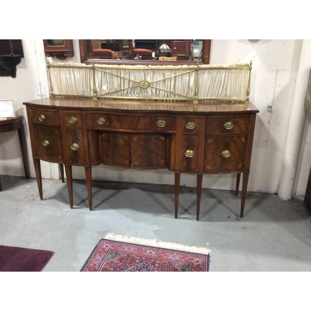 Brown 1940s Hepplewhite Style Mahogany Sideboard With Inlay For Sale - Image 8 of 10