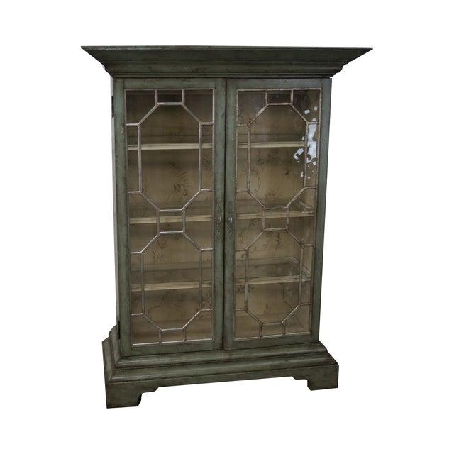 Colonial Williamsburg Architectural Curio Cabinet For Sale
