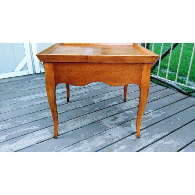 Mid 20th Century 20th Century Regency Baker Furniture Milling Road One Drawer End Table For Sale - Image 5 of 13