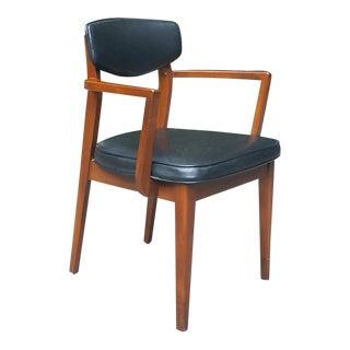 Danish Modern Black & Wood Armchair