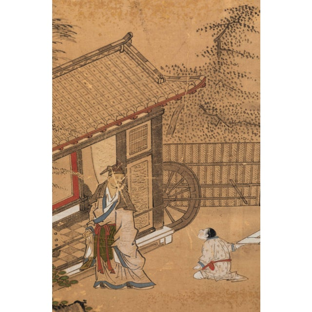 Wood Antique Japanese Screen Panels For Sale - Image 7 of 12