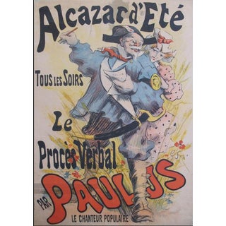 1891 Original French Belle Époque Poster, Alcazar D'été, Le Proces Verbal For Sale
